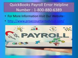 QuickBooks Payroll Customer Helpline Number 800-880-6389